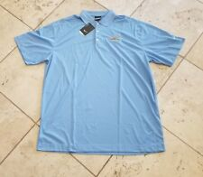 NWT Men's Nike Golf Dri Fit Blue Leinenkugels S/S Polo Shirt Size 2XL