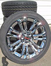 "22"" New GMC Sierra Yukon Chrome Rims 3054022 Nexen Tires 5666 GMC Caps"