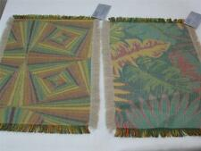 2 Fabric Placemats Abstract Design Autumn Colors  New