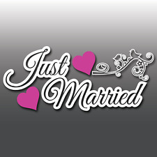 Large Just Married Wedding Car Window Decoration Vinyl Decal Sticker Sign Banner