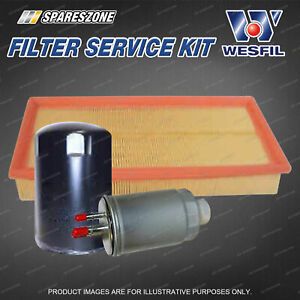 Wesfil Oil Air Fuel Filter Service Kit for Tata Xenon 2.2L TD 12/09-on