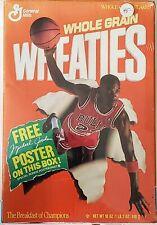 MICHAEL JORDAN Chicago Bulls 1989 Full Wheaties Cereal Box General Mills PosterB