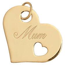 Maman Pendentif Collier or Jaune Coeur en