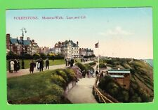 Vintage Postcard. Folkstone . Madeira Walk, Leas and Lift,.Kent, Dated 1942