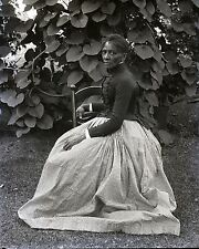 *AFRICAN AMERICAN Black Woman 16x20 BRIDGHAM Metallic Paper Photo NY Camera Club