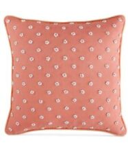 NWT Martha Stewart French Knot Pink 16x16 Decorative Throw Pillow