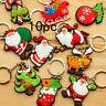 10Pcs Christmas Series Santa Claus Key Rings Key Chains For Kids Festival Gift