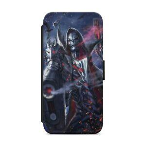 SKULL GRIM REAPER WALLET FLIP PHONE CASE COVER FOR IPHONE SAMSUNG HUAWEI     s04