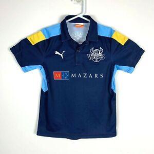 Yorkshire Vikings Puma English Cricket Rare Polo Shirt Jersey Size Youth Medium