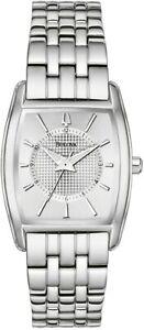 Bulova 96L130 Silver Tone Silver Dial Womens Tonneau Style Dress Watch