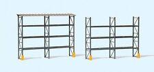 Preiser 17125 Industrial pallet racking for 48 euro-pallets 1:87 H0