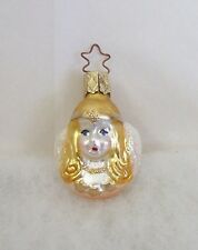 1 Old World Christmas Inge Glass Ornament Celestial Angel Mini Peach Pink NEW