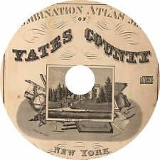 Combination Atlas of Yates County, New York {1876} NY Plat Maps Book on DVD