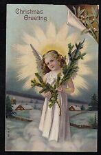 Vintage Antique Postcard Christmas Greetings