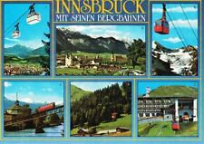 Austria Postcard Innsbruck Mountain Cable Railways Skycars 6 Photos 1970s