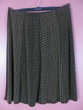 STK3558- CITIKNITS Women's Slinky Travel Knit A-Line Flare Skirt Browns Geo 1X