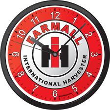 International Harvester Ih Farmall Farm Tractor Picture Art Wall Clock Clocks