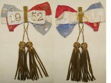 Ancienne Médaille, décoration, Rosette, Cocarde de conscrit 1952 guerre, armée