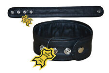 Black Piping Leather Bicep Arm Band Muscle Belt Brand New LLL-7102