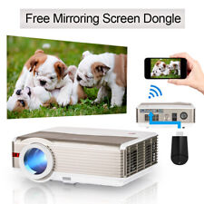 8000lms Projector Home Theater Backyard Party Bundle Wireless Display Dongle TV