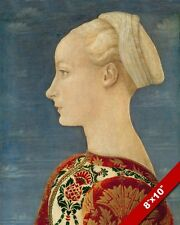1400'S ERA PORTRAIT OF YOUNG BLONDE GERMAN WOMAN GIRL PAINTING ART CANVAS PRINT