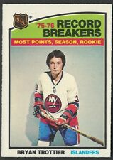 1976-77 OPC NEW YORK ISLANDERS BRYAN TROTTIER ROOKIE RB CARD #67 +2ND & 3RD YEAR