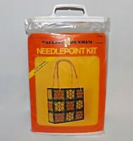 VTG 1970s Pauline Denham Calico Bag Tote Canvas Needle Point Kit NEW