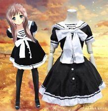 Uniforme de marinero mucama Cosplay Vestido Arco Niñas Princesa Manga Corta Japón Lolita