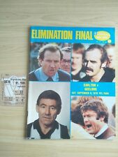 1978 VFL Football Record Elimination Final Carlton V Geelong