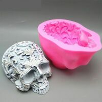Silicone Skull Mould Fondant Cake Resin Gyps Decorative Ornaments Skeleton Molds