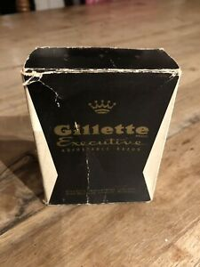 Gillette Executive Adjustable Razor, Executive Fatboy, 22 Carot Plated