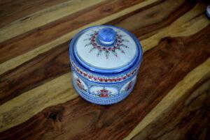 Töpferei Keck Keramik Ton Topf Vorratstopf Landhausstil handgemalt Handarbeit