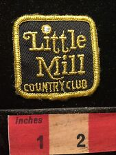 Vtg LITTLE MILL COUNTRY CLUB Golf Patch Emblem MARLTON NEW JERSEY 68P4