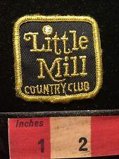 Vtg LITTLE MILL COUNTRY CLUB Golf Patch Emblem MARLTON NEW JERSEY 68P4