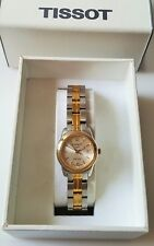 Ladies Stainless Steel & Gold Plated Tissot PR100 Quartz Wrist Watch Boxed