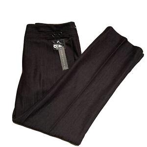 NWT LARRY LEVINE Women's Size 10P Pants Stretch Black Career Dress Slacks