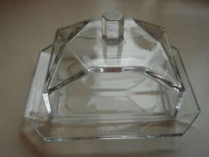Old, Decorative Crystal Butter Dish From Villeroy & Boch