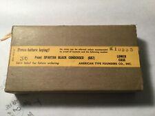 LETTERPRESS METAL TYPE SPARTAN BLACK CONDENSED 36PT LOWERS/ PUNCT NEW IN BOX ATF