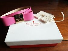 KATE SPADE WOMEN'S PATENT LEATHER BOW BELT BELT-PINK, Small