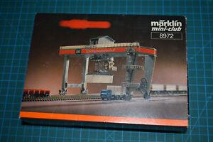 Marklin 8972 Gare / portique container - Containerbahnhof  Echelle Z 1/220 Neuf