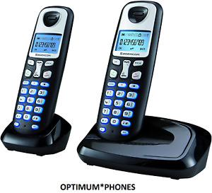 Sagemcom D210A Twin DECT Digital Cordless Telephone Answering Machine - Black