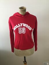 Womens Sweater Size 10 By Select Red Hoodie Casual Lightweight Crop Sweater New