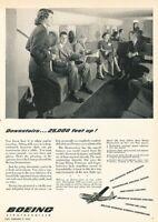 1949 Boeing Stratocruiser Plane Vintage Original Advertisement Print Art Ad K96