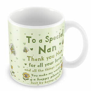 Special Nan Mug Nan Birthday Christmas Gift From Granchildren Thank You Gift