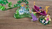 Playmobile Princess Bundle  Flower Garden Lake Swans Ducklings Boat Figures