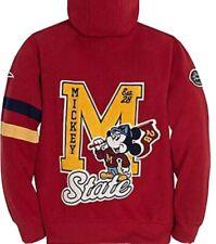 Disney Sweatshirt Hoodie Mickey State University Walt Disney World Red Sz M