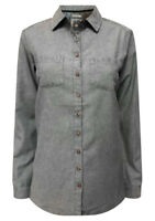 New Ex Fat Face Ladies Blue Casual Shirt Blouse Size 6 - 16 Chambray