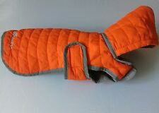 Eddie Bauer petit dogs quilted orange refletive coat, hardly worn
