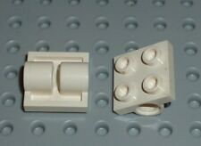LEGO - PLATE, Modified 2 x 2 with Pin Holes, WHITE x 2 (2817) PM326