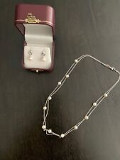 Authentic Pearl Necklace and Earrings, from Zerbe Jewelry, Colorado Springs CO